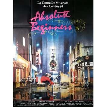 ABSOLUTE BEGINNERS Affiche de film - 120x160 cm. - 1986 - David Bowie, Julien Temple