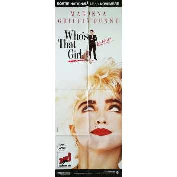 WHO'S THAT GIRL Affiche de film - 60x160 cm. - 1987 - Madonna, James Foley