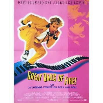 GREAT BALLS OF FIRE Affiche de film - 40x60 cm. - 1989 - Dennis Quaid, Winona Rider, Jim McBride