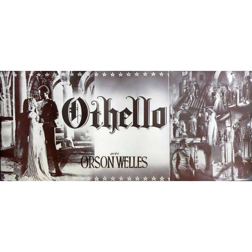 OTHELLO French Huge Herald 11x24 - 1952 - Orson Welles,