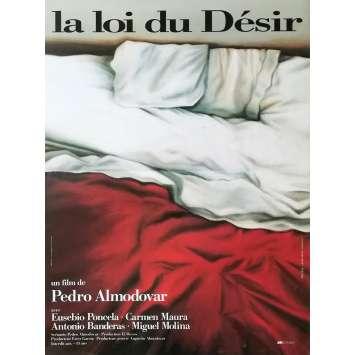 LA LOI DU DESIR Affiche de film - 40x60 cm. - 1987 - Carmen Maura, Pedro Almodovar