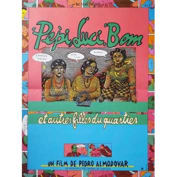 PEPI LUCI BOM Affiche de film - 40x60 cm. - 1980 - Carmen Maura, Pedro Almodovar