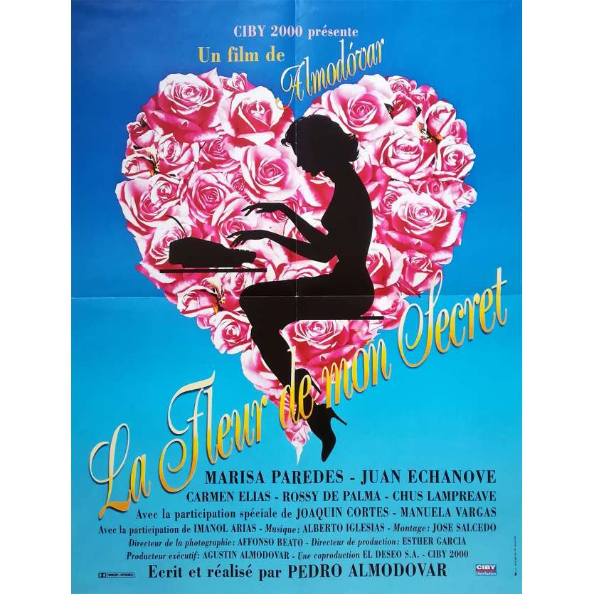 THE FLOWER OF MY SECRET Original Movie Poster - 23x32 in. - 1995 - Pedro Almodovar, Marisa Paredes