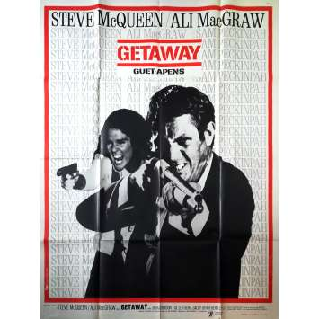 THE GETAWAY Original Movie Poster - 47x63 in. - 1972 - Sam Peckinpah, Steve McQueen