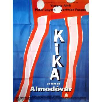 KIKA Original Movie Poster - 47x63 in. - 1993 - Pedro Almodovar, Victoria Abril