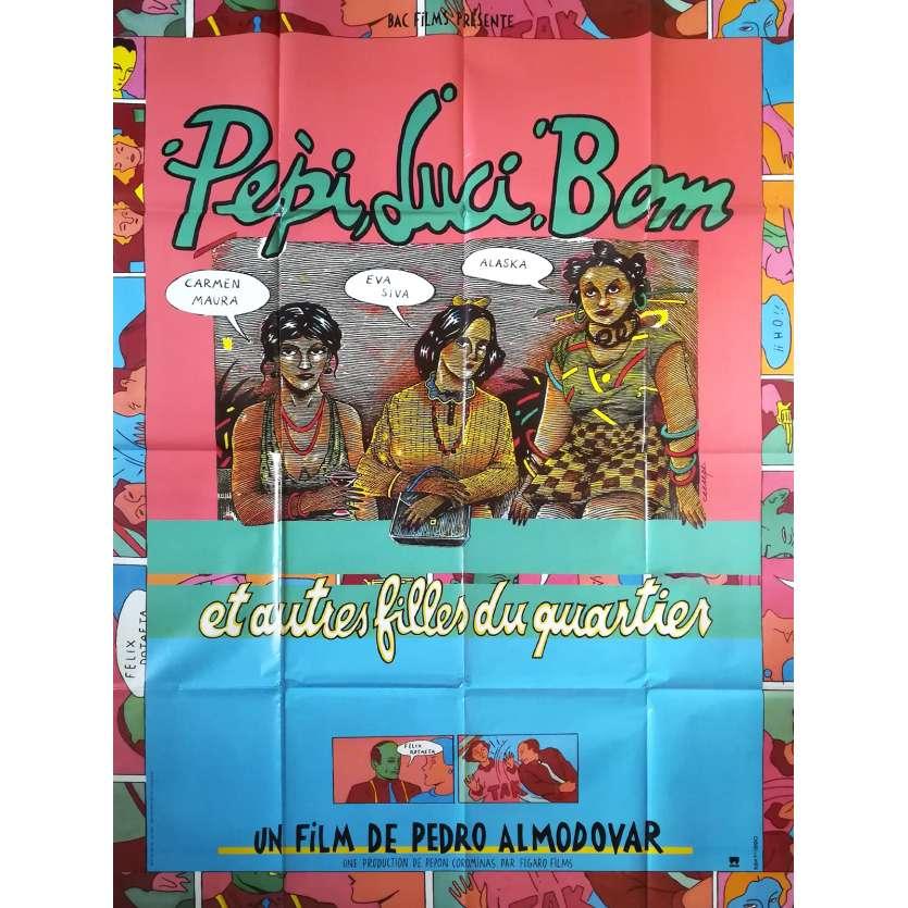 PEPI LUCI BOM Original Movie Poster - 47x63 in. - 1980 - Pedro Almodovar, Carmen Maura