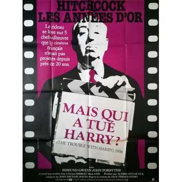 MAIS QUI A TUE HARRY Affiche de film - 120x160 cm. - R1980 - Shirley MacLaine, Alfred Hitchcock
