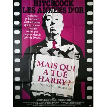 THE TROUBLE WITH HARRY Original Movie Poster - 47x63 in. - R1980 - Alfred Hitchcock, Shirley MacLaine