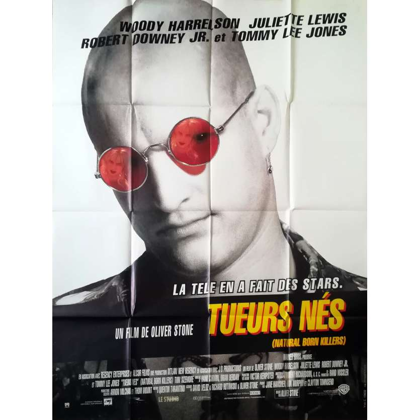 TUEURS NES French Movie Poster 47x63 '92 Oliver Stone, Quentin Tarantino, Juliette Lewis