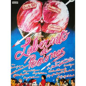 LABYRINTH OF PASSION Original Movie Poster Spanish Style - 15x21 in. - 1982 - Pedro Almodovar, Cecilia Roth