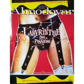 LE LABYRINTHE DES PASSIONS Affiche de film - 40x60 cm. - 1982 - Cecilia Roth, Pedro Almodovar