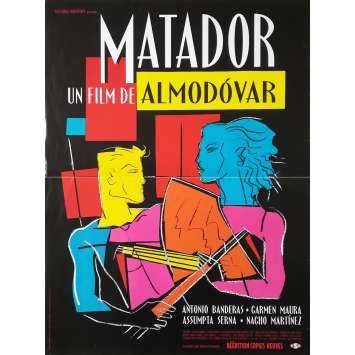 MATADOR Affiche de film - 40x60 cm. - 1986 - Antonio Banderas, Pedro Almodovar