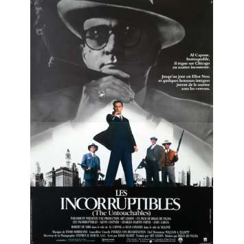 LES INCORRUPTIBLES Affiche de film - 40x60 cm. - 1987 - Kevin Costner, Brian de Palma