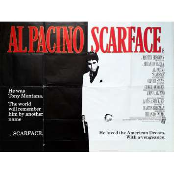 SCARFACE Original Movie Poster - 30x40 in. - 1983 - Brian de Palma, Al Pacino