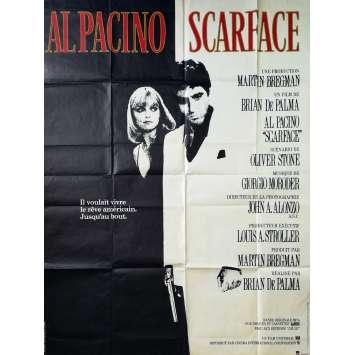 SCARFACE Affiche de film - 120x160 cm. - 1983 - Al Pacino, Brian de Palma