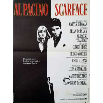SCARFACE Affiche de film - 40x60 cm. - 1983 - Al Pacino, Brian de Palma
