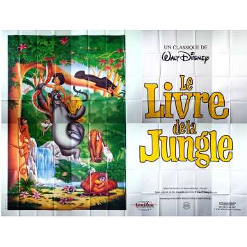 LE LIVRE DE LA JUNGLE Affiche géante 4x3M - R1980 - Walt Disney, Jungle book Poster