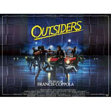 OUTSIDERS Affiche de film - 400x300 cm. - 1983 - Matt Dillon, Francis Ford Coppola