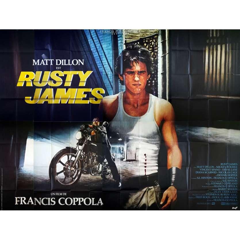 RUSTY JAMES Affiche de film - 400x300 cm. - 1983 - Matt Dillon, Francis Ford Coppola