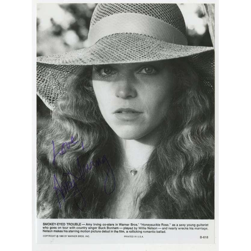 SHOWBUS Photo signée - 20x25 cm. - 1980 - Willie Nelson, Jerry Schwartzberg