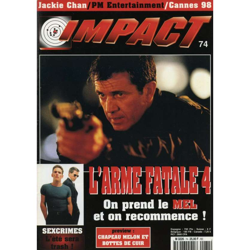 IMPACT N°74 Magazine - Mel Gibson, Lethal Weapone 4