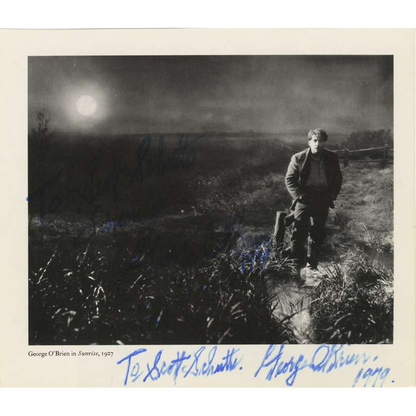 GEORGE O'BRIEN Photo signée N01 - 20x25 cm. - 1970'S - 0, 0