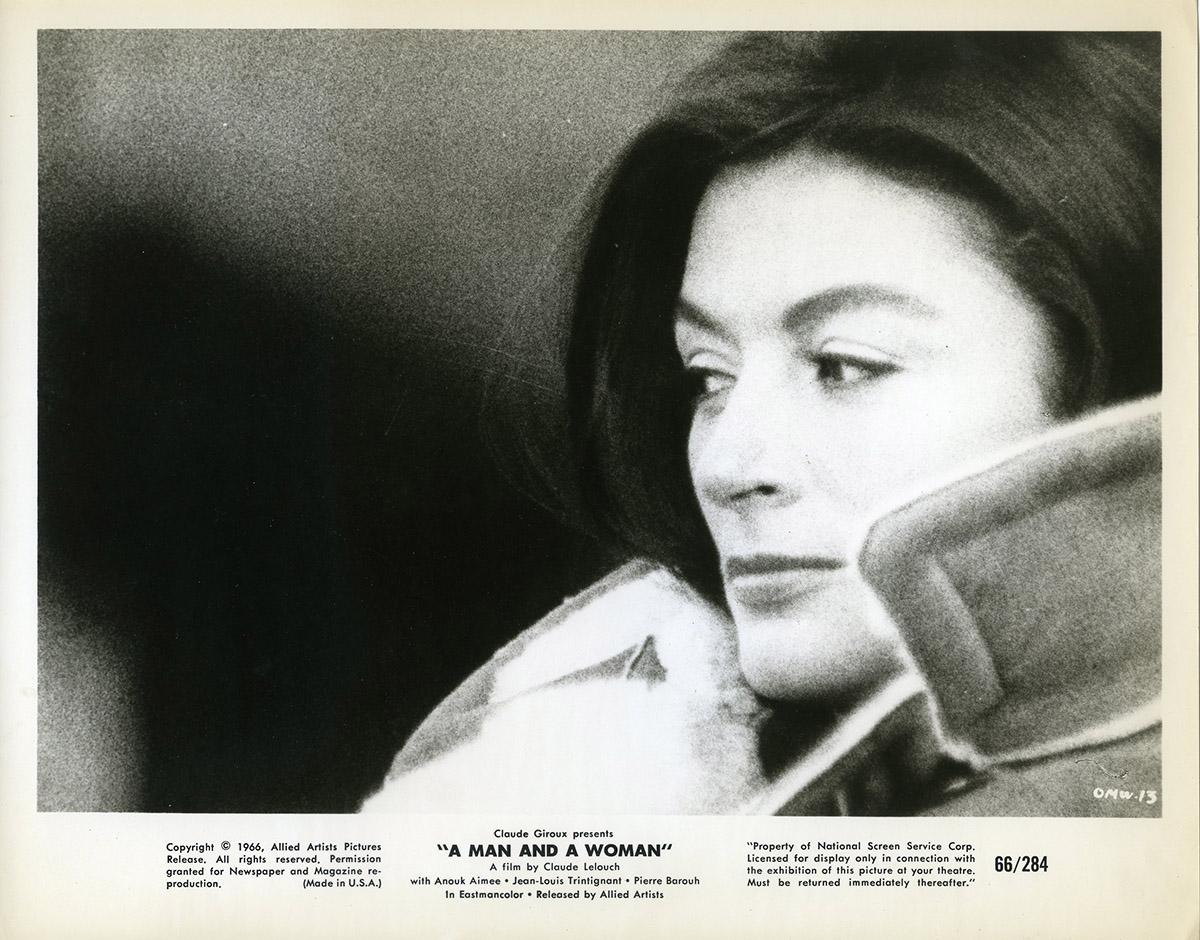 Anouk Aimée Photos man & a woman original movie still n04 - 8x10 in. - 1966 - claude lelouch,  anouk aim�e, jean-louis trintignant