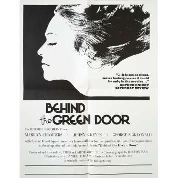 BEHIND THE GREEN DOOR Original Movie Poster Adv. - 17x22 in. - 1972 - Mitchell Bros, Marilyn Chambers