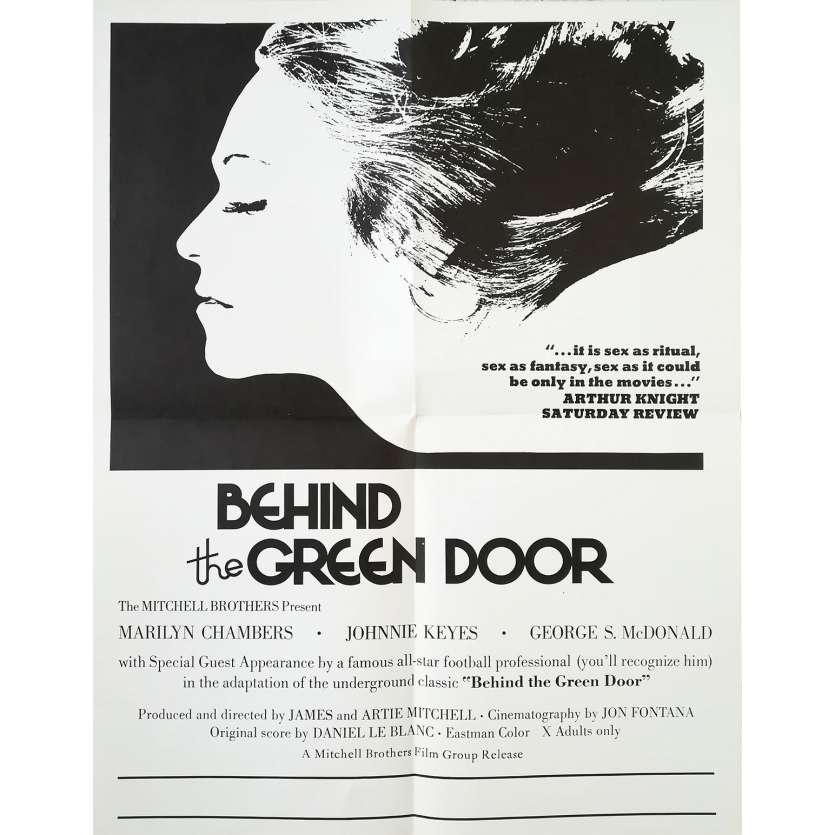 DERRIERE LA PORTE VERTE Affiche de film Prev. - 43x56 cm. - 1972 - Marilyn Chambers, Mitchell Bros