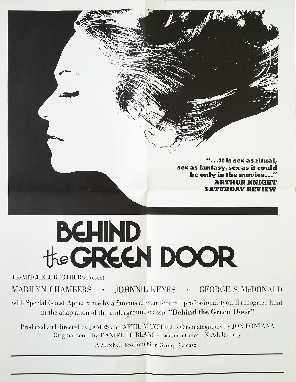 Behind The Green Door Pics behind the green door ultra-rare movie poster - 17x22 in. - 1972 - marilyn chambers