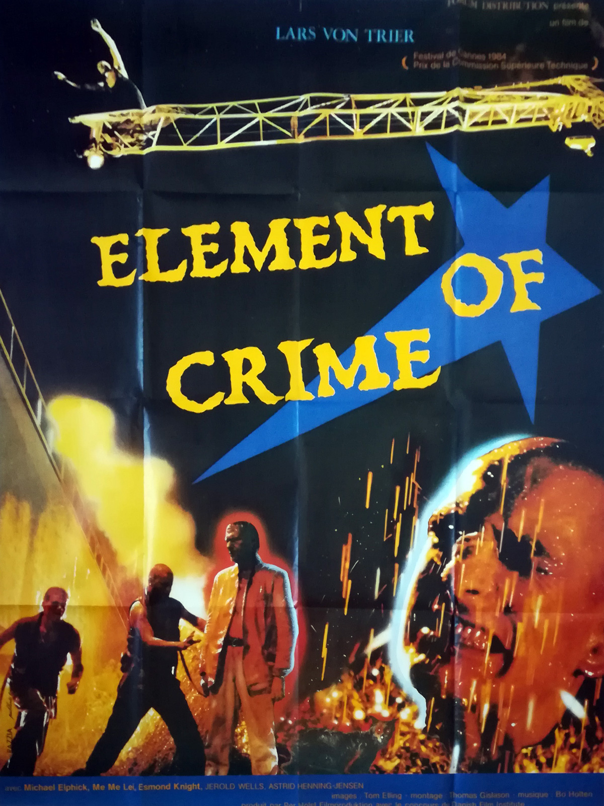 Element Of Crime Movie Poster 47x63 In