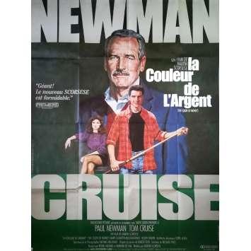 LA COULEUR DE L'ARGENT Affiche de film 120x160 - 1986 - Paul Newman, Martin Scorsese