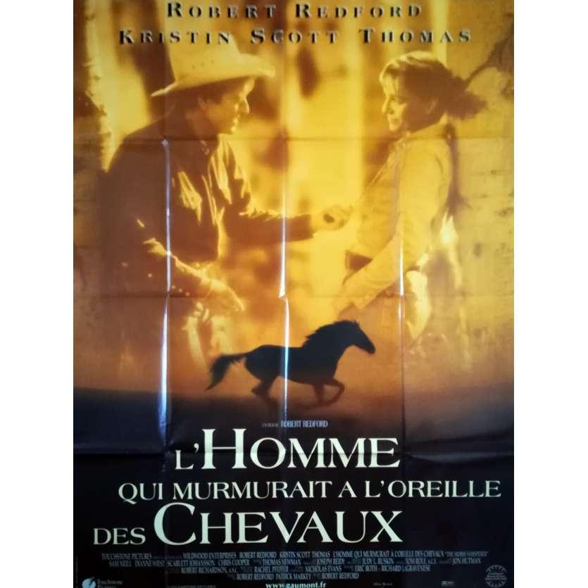 L'HOMME QUI MURMURAIT A L'OREILLE DES CHEVAUX Affiche de film 120x160 - 1998 - Redford