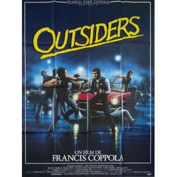 OUTSIDERS Affiche de film - 120x160 cm. - 1983 - Matt Dillon, Francis Ford Coppola