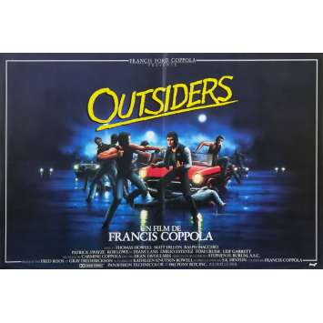 THE OUTSIDERS Original Movie Poster - 15x21 in. - 1983 - Francis Ford Coppola, Matt Dillon