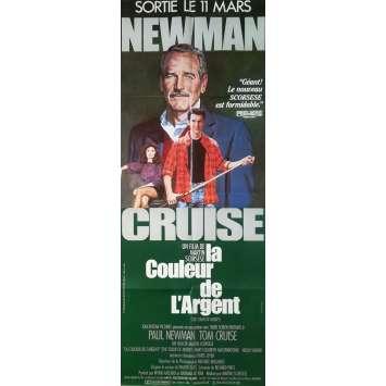 LA COULEUR DE L'ARGENT Affiche de film - 60x160 cm. - 1986 - Paul Newman, Martin Scorsese