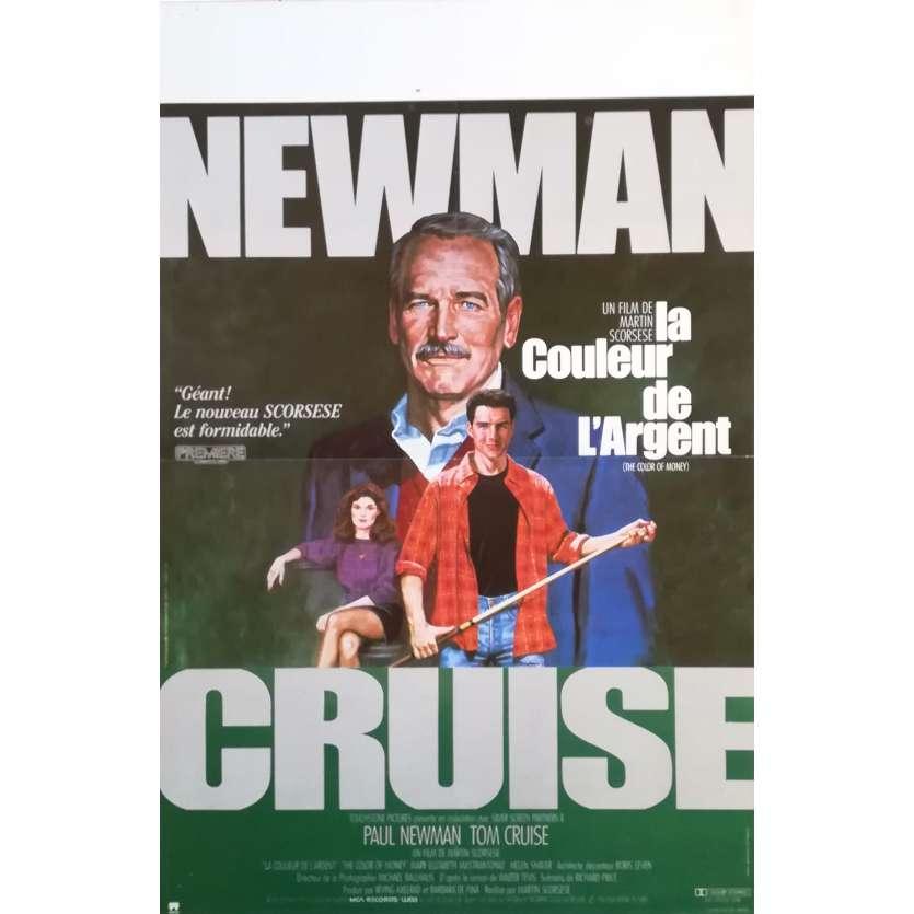 LA COULEUR DE L'ARGENT Affiche de film 40x60 - 1986 - Paul Newman, Martin Scorsese