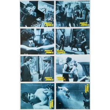RUMBLE FISH Original Lobby Cards x8 - 9x12 in. - 1983 - Francis Ford Coppola, Matt Dillon