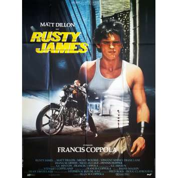 RUSTY JAMES Affiche de film - 120x160 cm. - 1983 - Matt Dillon, Francis Ford Coppola