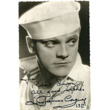 JAMES CAGNEY Original Signed Photo - 3,5x5,5 in. - 1977 - 0, 0