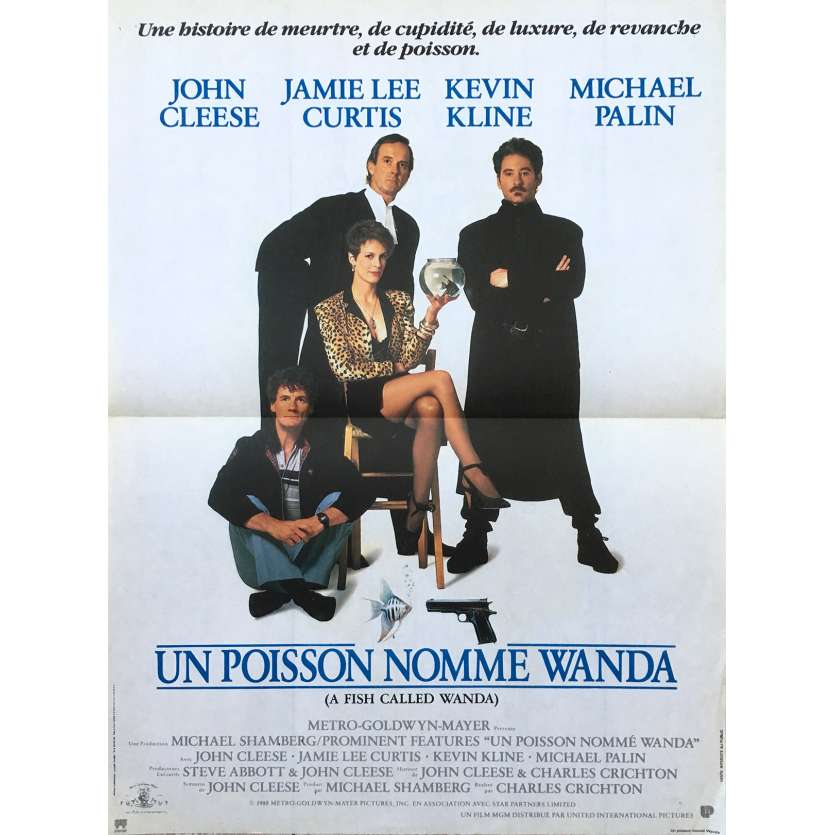 A FISH CALLED WANDA French Movie Poster 15x21- 1988 - Charles Crichton, John Cleese