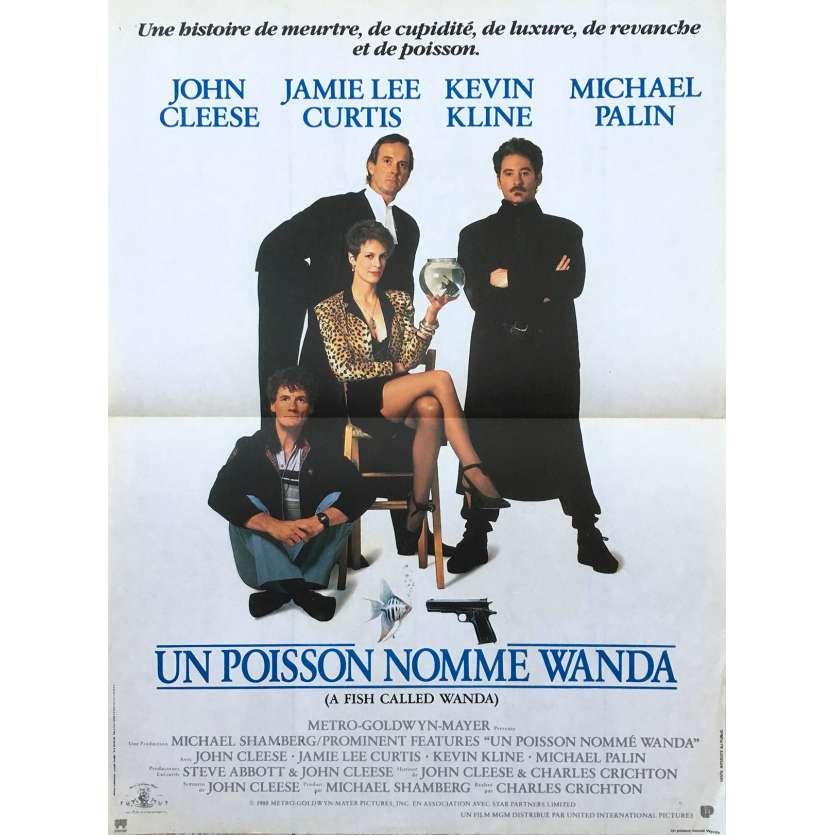 UN POISSON NOMMÉ WANDA Affiche de film 40x60 - 1988 - John Cleese, Jamie Lee Curtis