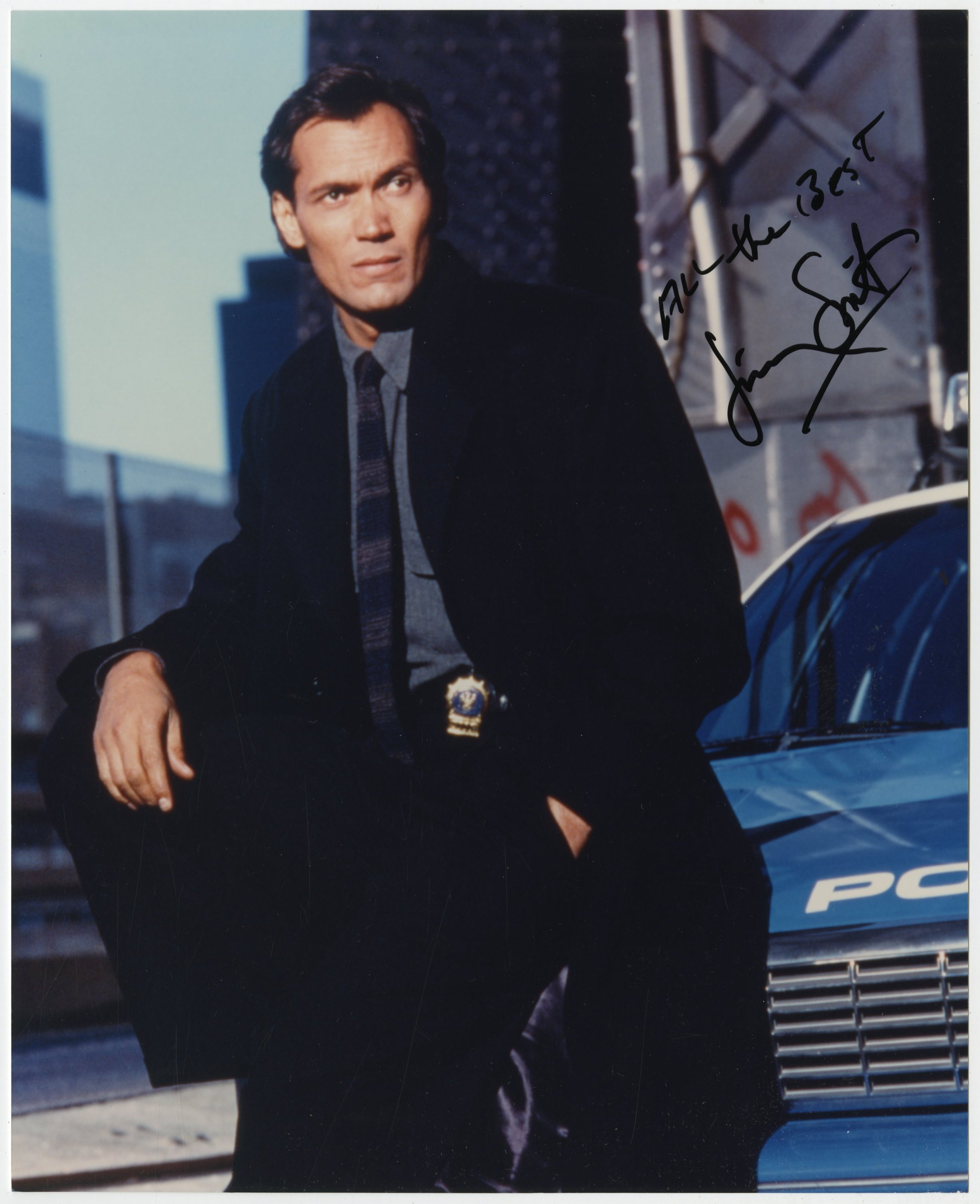 HILL STREET BLUES Photo signed by Jimmy Smits - 8x10 in  - 1981