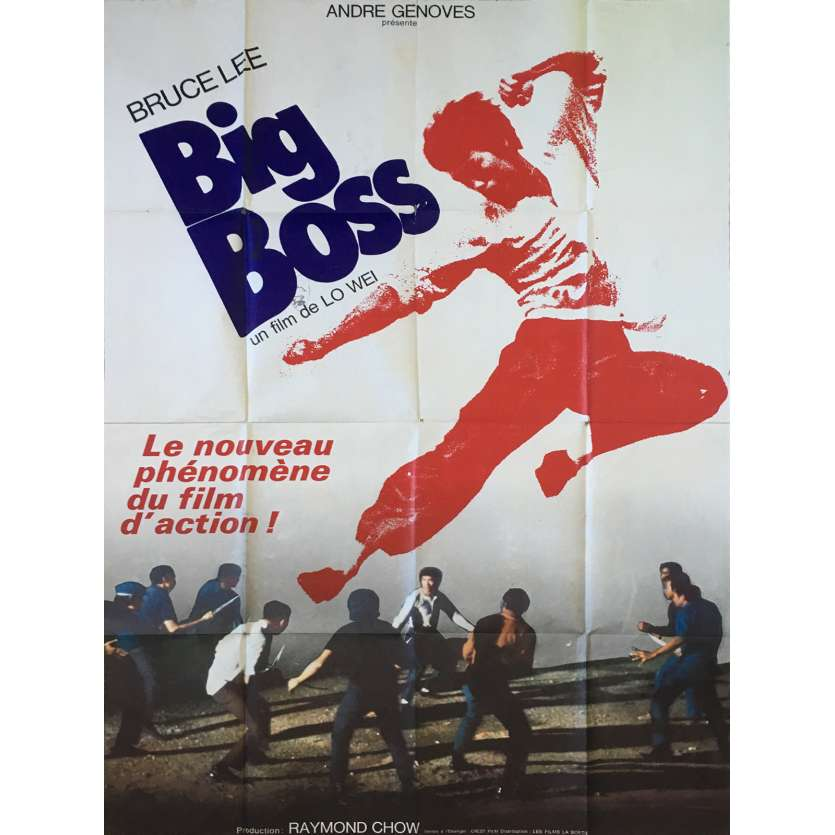 BIG BOSS Affiche de film - 120x160 cm. - 1971 - Bruce Lee, Lo Wei