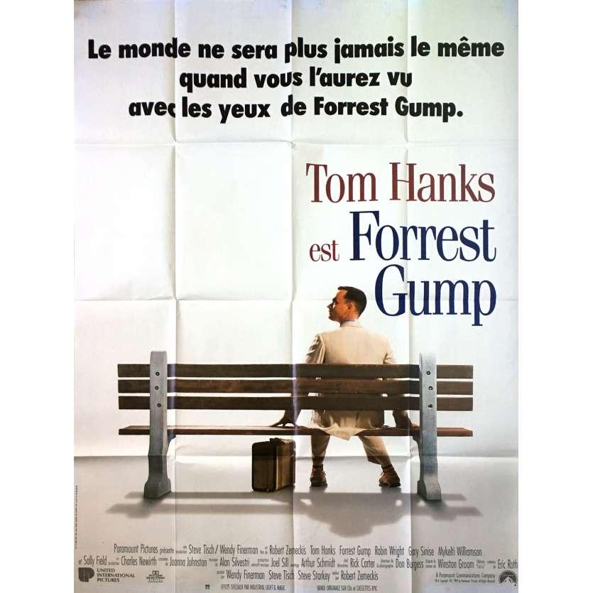 FORREST GUMP Affiche de film - 120x160 cm. - 1994 - Tom Hanks, Robert Zemeckis
