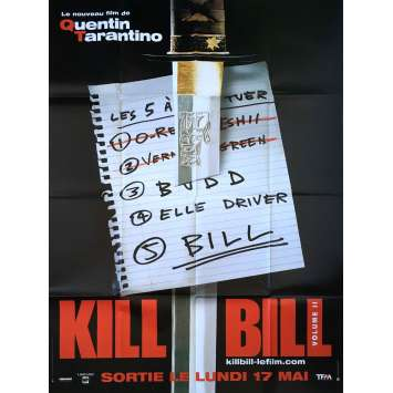 KILL BILL 2 Affiche de film Prev. - 120x160 cm. - 2004 - Uma Thurman, Quentin Tarantino
