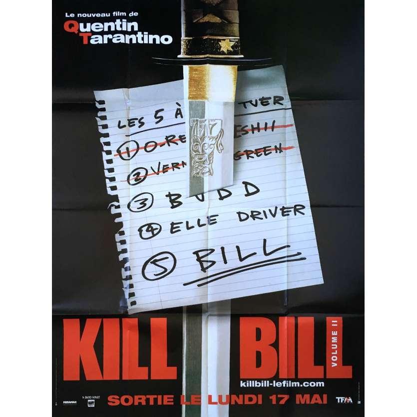 KILL BILL 2 Affiche de film Prev. - 120x160 cm. - 2004 - Uma Thurman, Quentin Tarantino
