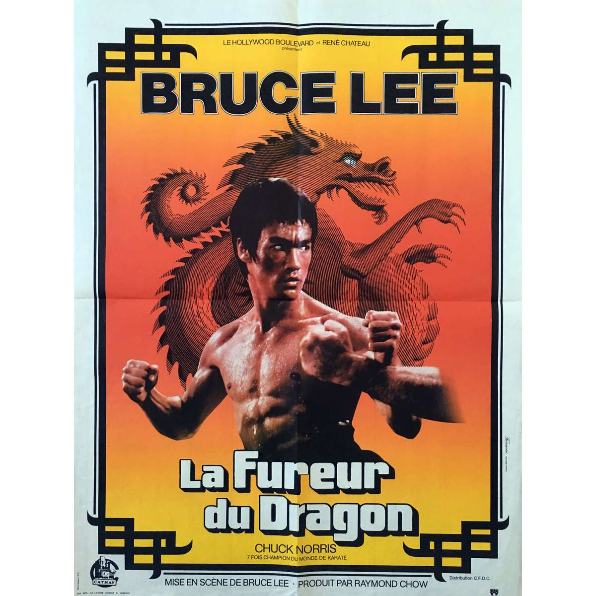 THE WAY OF THE DRAGON Movie Poster 23x32 In