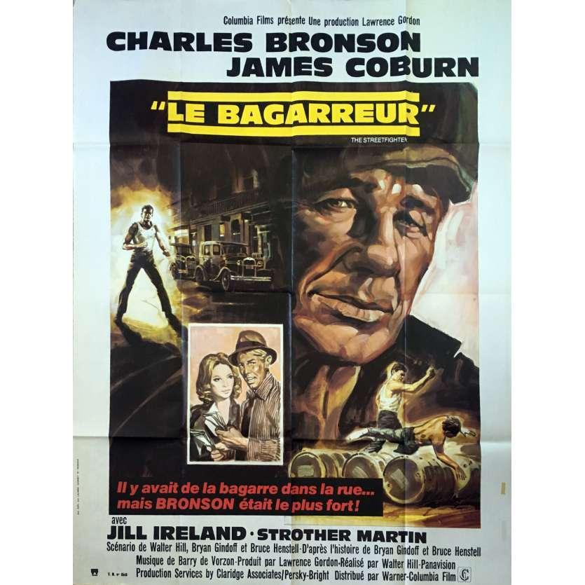 LE BAGARREUR Affiche de film - 120x160 cm. - 1975 - Charles Bronson, Walter Hill