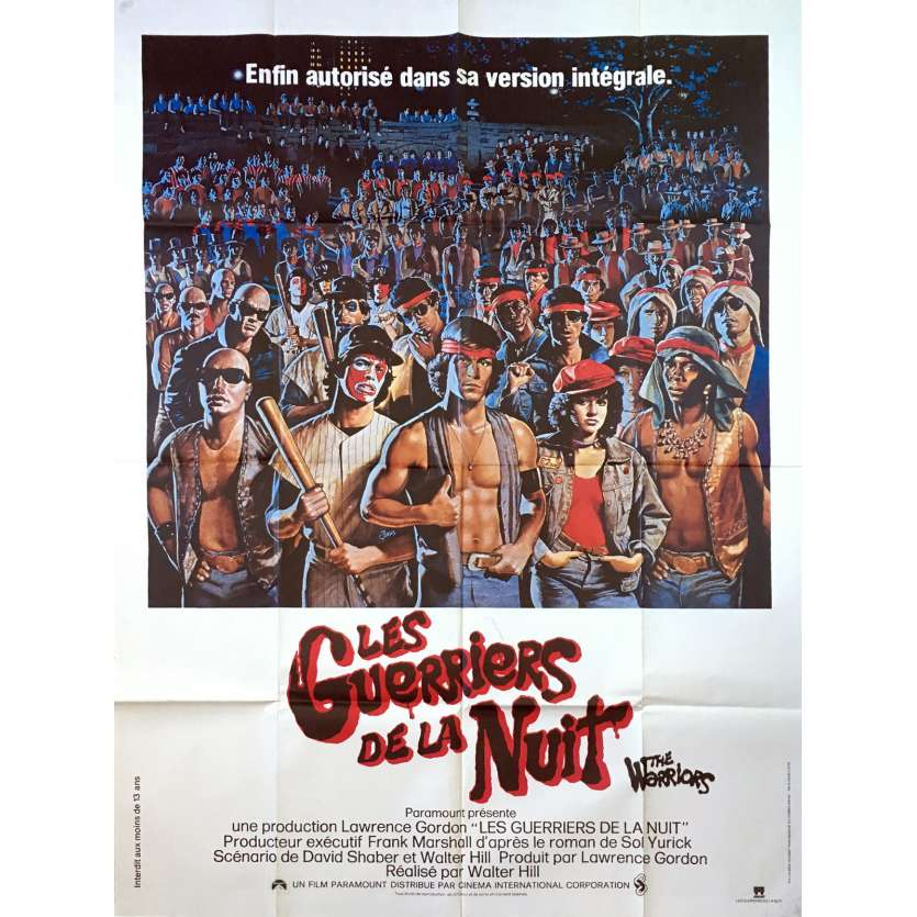 LES GUERRIERS DE LA NUIT Affiche de film - 120x160 cm. - R1980 - Michael Beck, Walter Hill